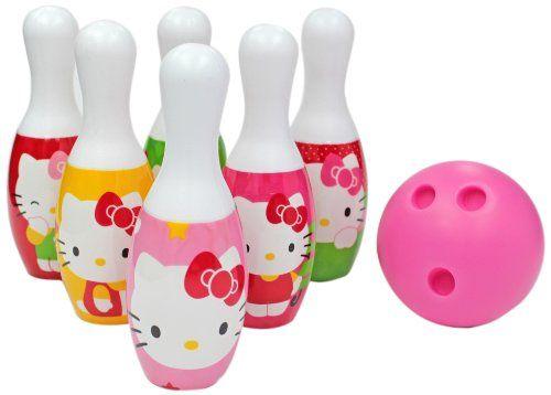 Sanrio Hello Kitty Bowling Set Toddler Toy Game Kids Birthday Gift 6 Pins 1 Ball