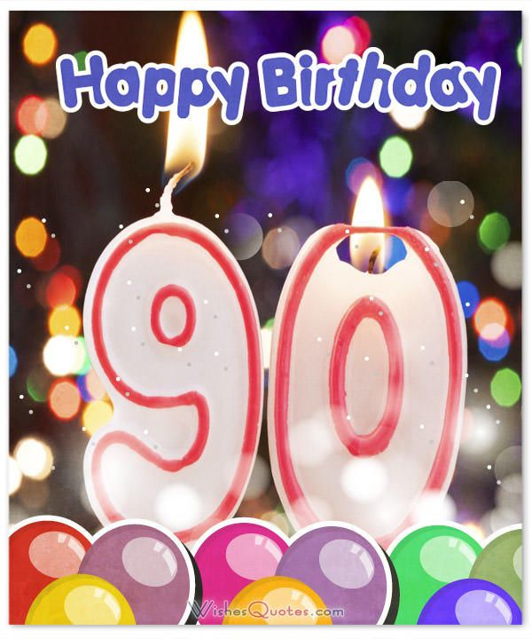 90th Happy Birthday Card