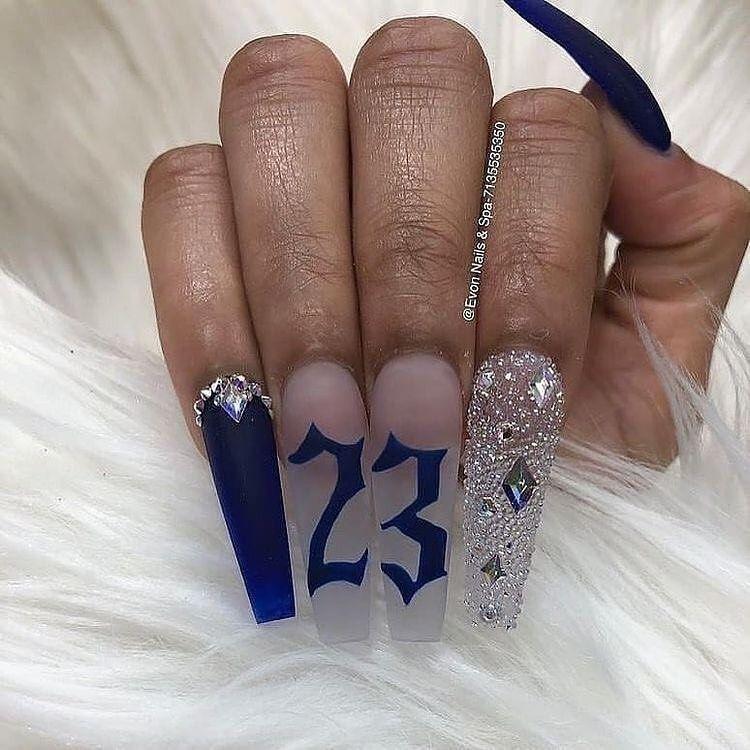 Hot Pink Bling Acrylic Nails | Bling acrylic nails, Nails