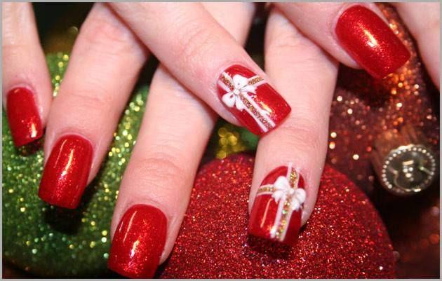 *: Decoração de unhas para o natal