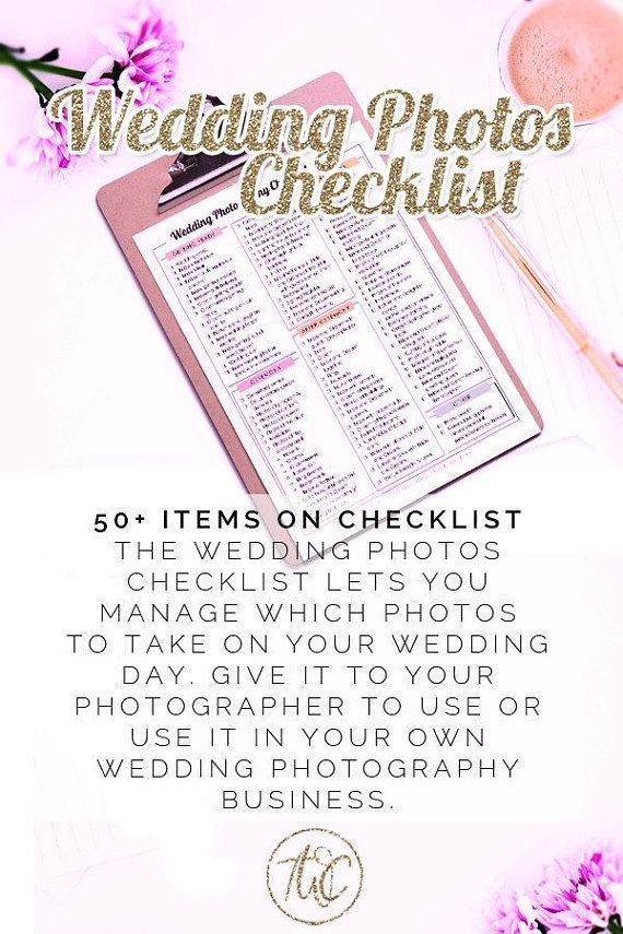 Printable Wedding Photography Checklist - printable, checklist