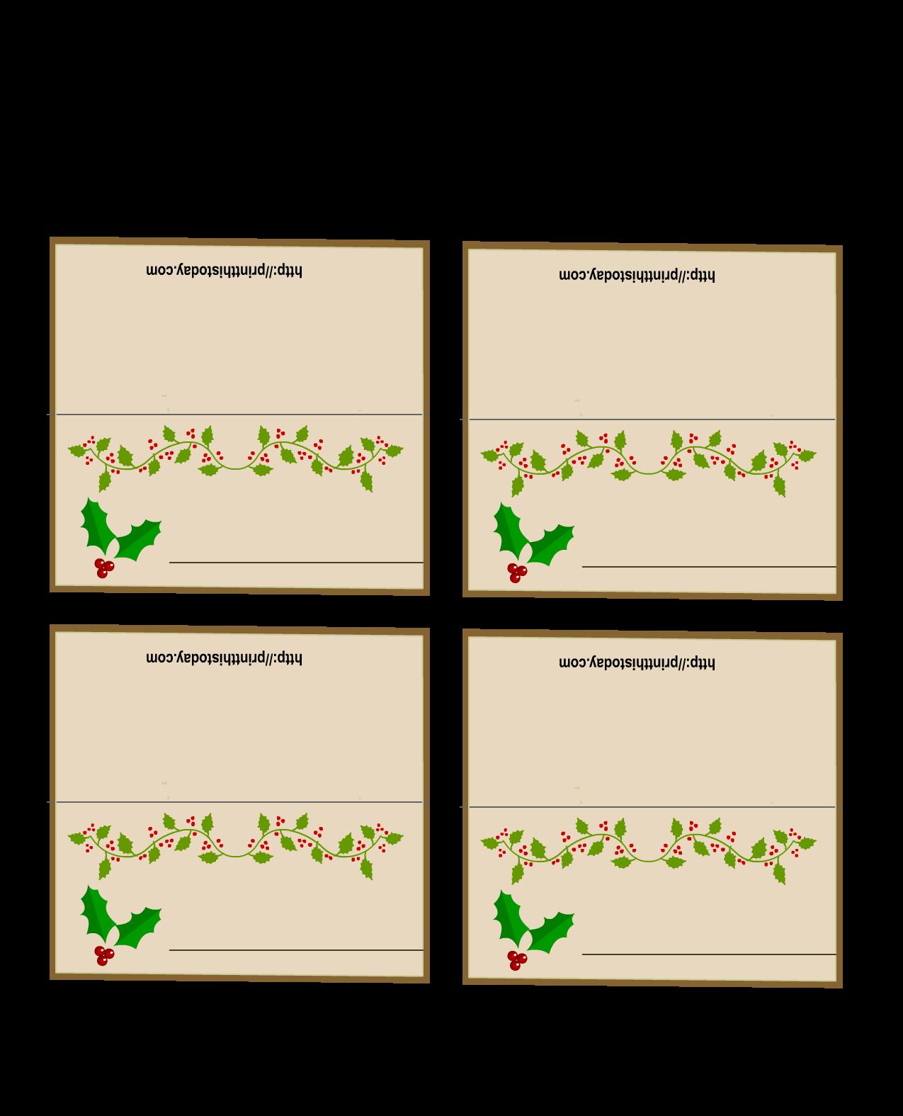 Pin On Free Printable Christmas Cards Tags