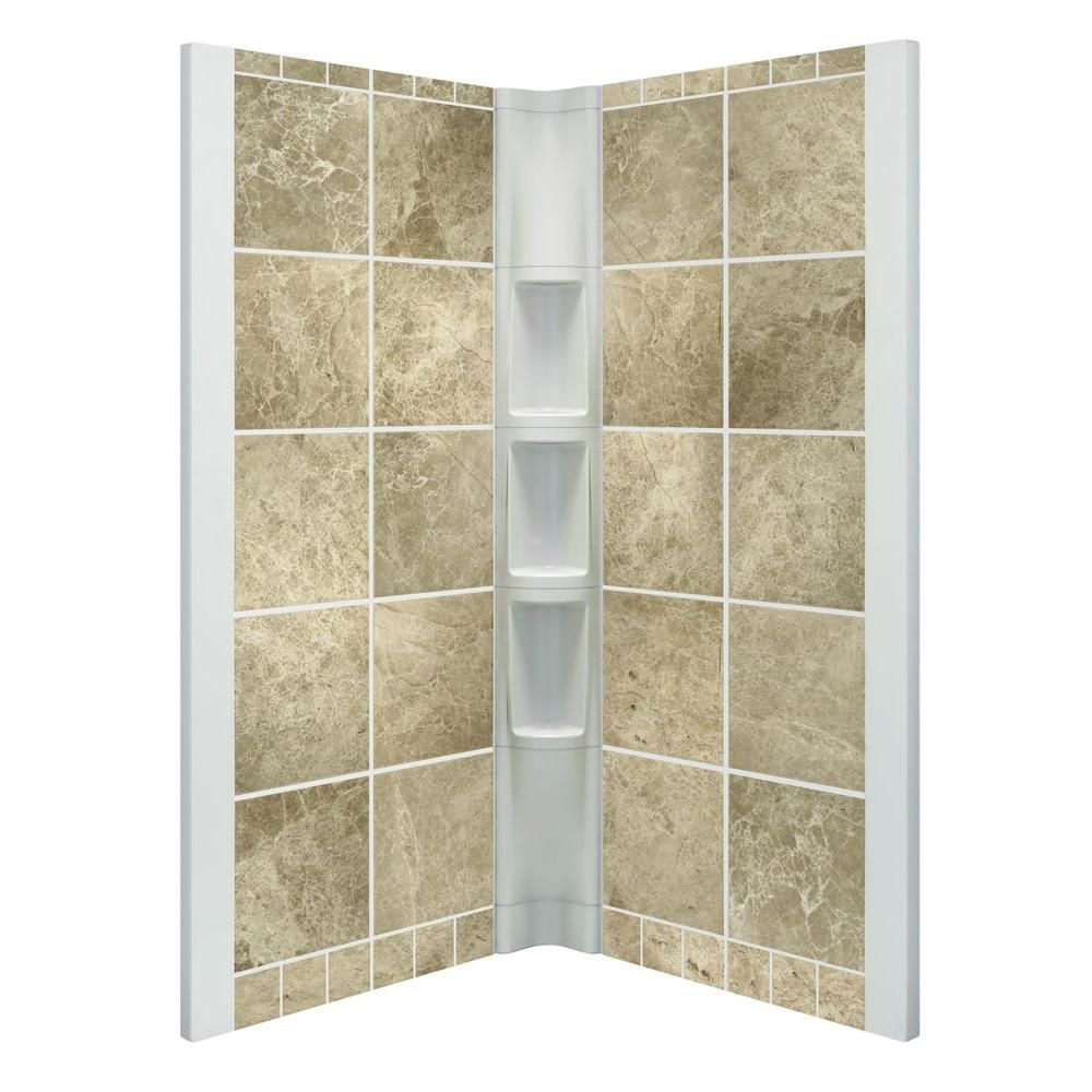 STERLING Intrigue 39 in. x 39 in. x 75 in. 2-piece Direct-to-Stud ...