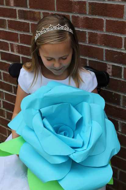 Giant diy paper rose flowers diy paper flowers and printer paper giant diy paper rose flowers using printer paper perfect for my beauty and the beast mightylinksfo