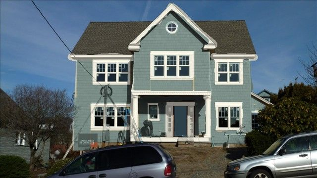 Sherwin Williams Exterior Paint Colors and Dover White as
