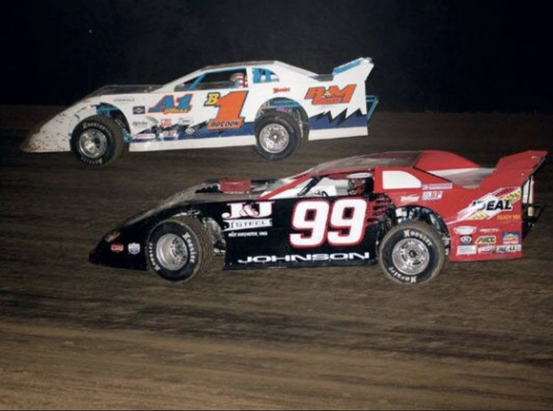 The late Johnny Johnson (99) Dirt late models, Dirt