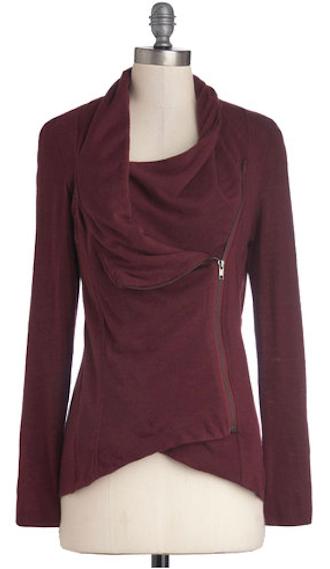 cute side-zip cardigan in marsala http://rstyle.me/n ...