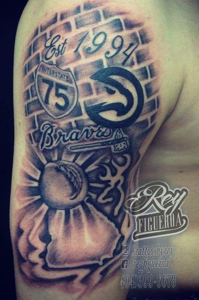 Rey Figueroa Tattoos 4043996678 Atlanta Braves Tattoo Atlanta Hawks Tattoo Tattoo Shops Near Me Tatted Atlanta Tattoo Georgia Tattoo Be Brave Tattoo