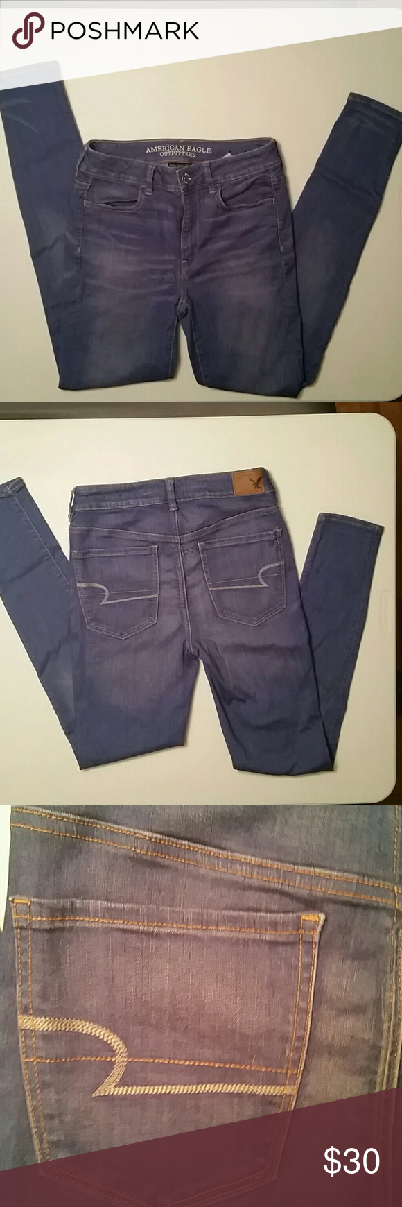NWOT AE HI-Rise Jeggings NWOT American Eagle super super stretch hi-rise jeggings. American Eagle Outfitters Jeans Skinny