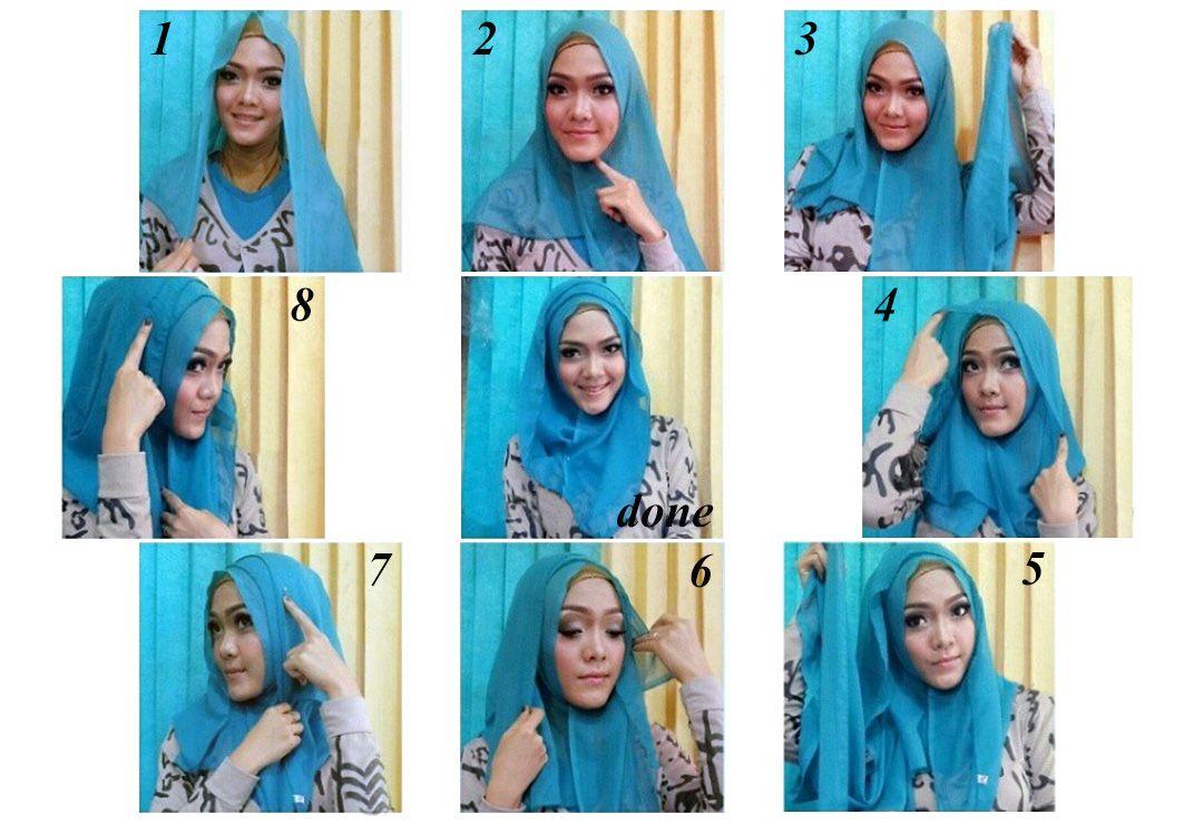 8 Langkah Cara Pakai Selendang Cantik Dengan Efek Lipatan Hijab