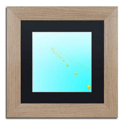 """Trademark Art 'Balloon Chain' by Matt Crump Framed Graphic Art Size: 11"""" H x 11"""" W x 0.5"""" D, Matte Color: Black"""