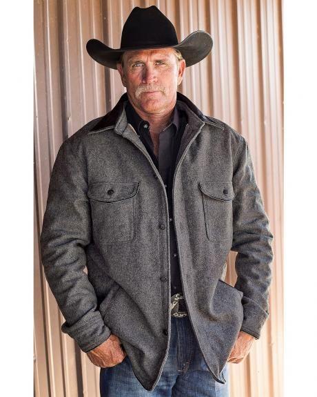 54b39cac88 STS Ranchwear Men s Clifton Grey Wool Jacket - Big   Tall - 2XL-3XL ...