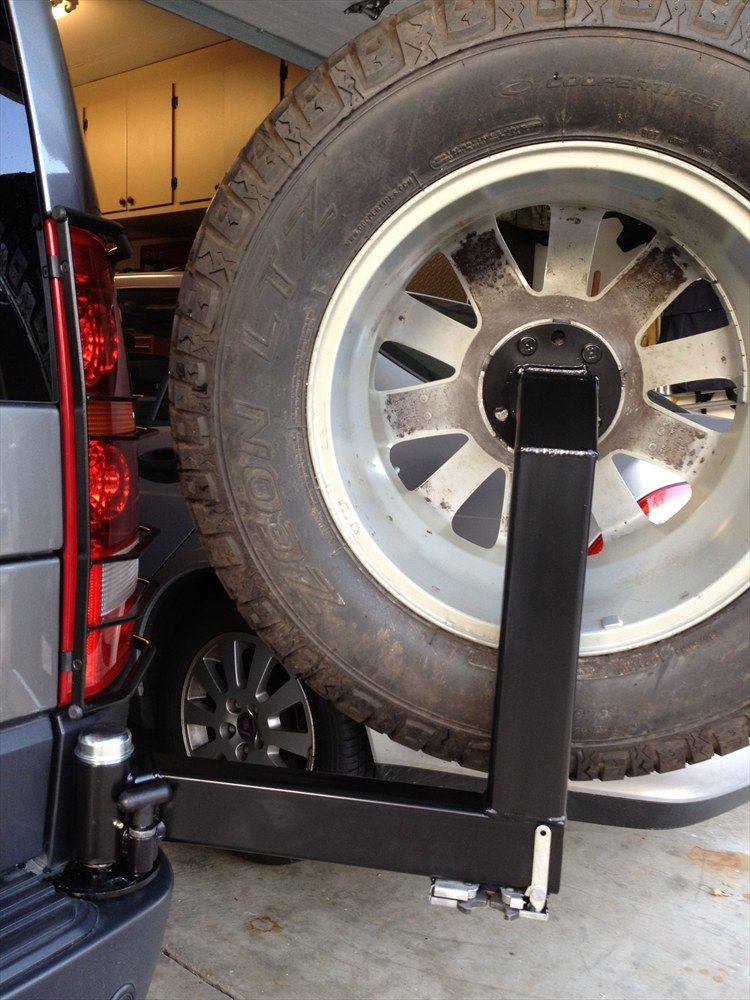 My Completed Rear Tire Swing Carrier For The Lr3 Page 2 Wheel Carrier Jeep Tire Carrier Land Rover