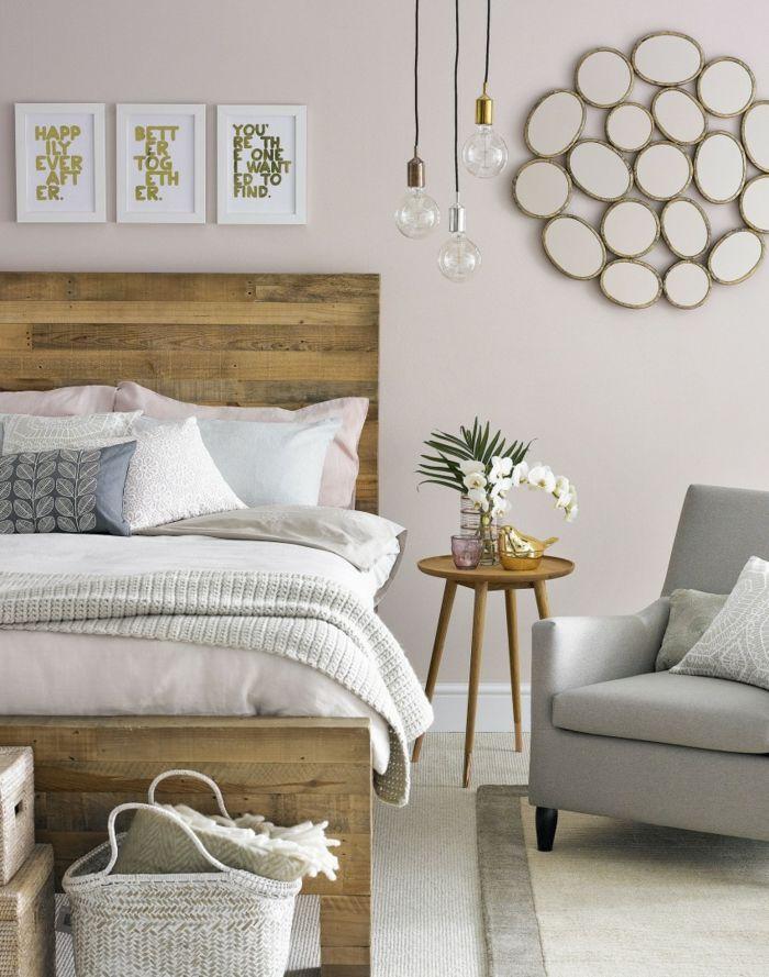 kopfbrett und farben rustikal Schlafzimmer Ideen \u2013 Betten