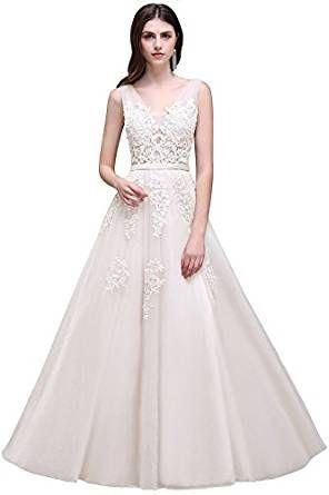 Wunderschönes Brautkleid mit viel Spitze. Damen Rückenfrei Spitze ...