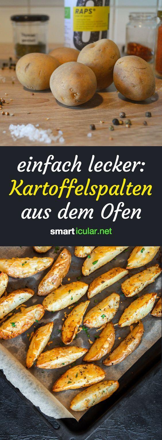 Besser als Pommes: knusprige Kartoffelspalten aus dem Backofen