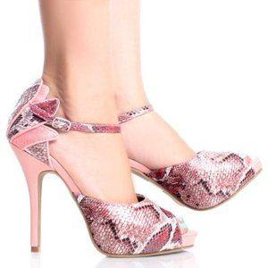 Snake Patent Womens Platform Shoes