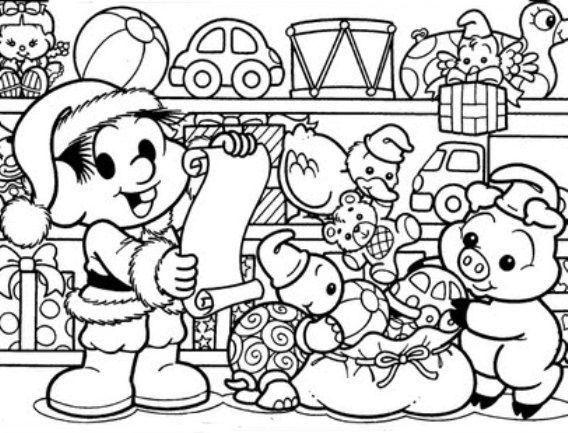 Chico Bento Em Presentes De Natal Com Imagens Monica Para