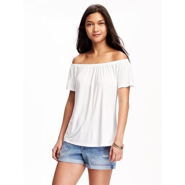 f5f0e5f19 Old Navy Relaxed Off The Shoulder Swing Tee For Women ( 17) ❤ liked ...