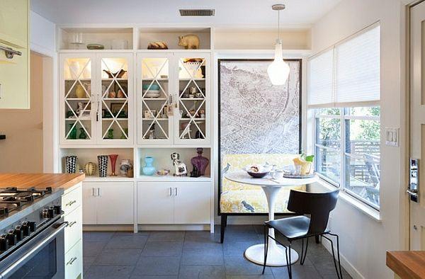 50 Einrichtungsideen für kleine Esszimmer - esszimmer esstisch mit - küchenschrank mit glastüren