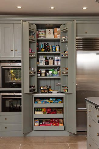 Small larder cupboard symes fine kitchens and interiors for Kitchen pantry photos