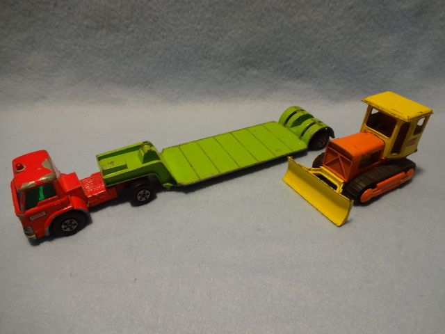 Repro box Matchbox king size k-17 low Loader with Bulldozer