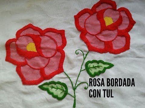 Bordado Flores Del Campo Youtube Rosas Bordadas Bordado