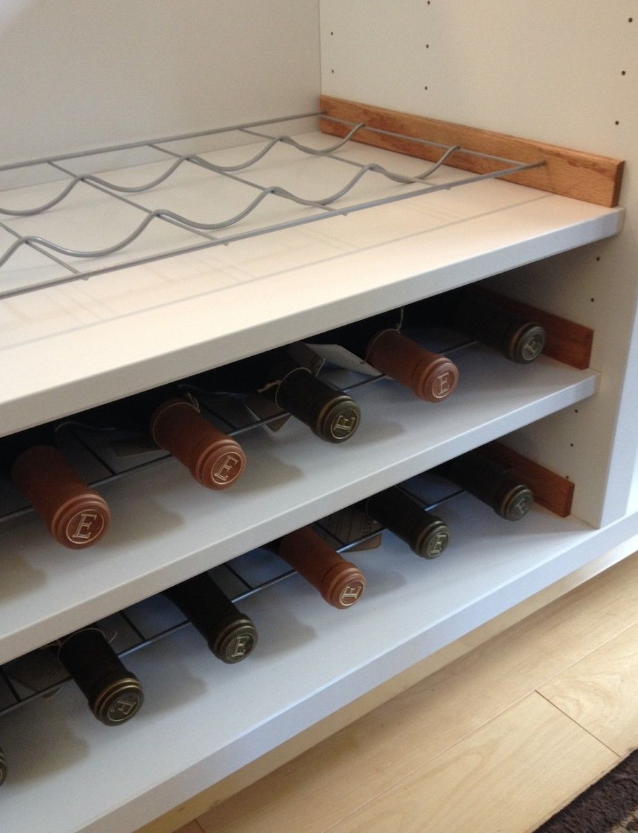 Besta wine rack hack ikea hackers kapla pinterest for Wine shelves ikea