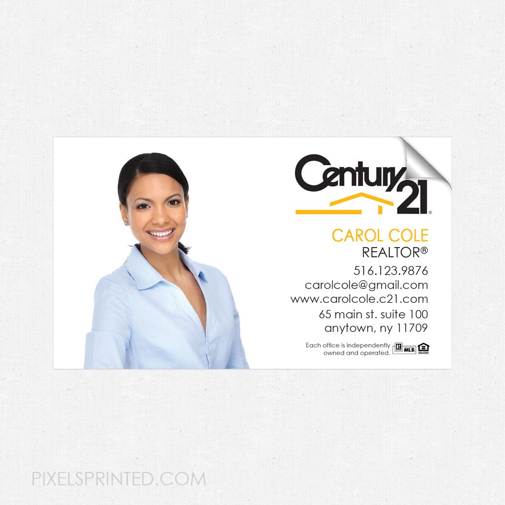 CENTURY 21 business card sticker, CENTURY 21 business card sticker ...