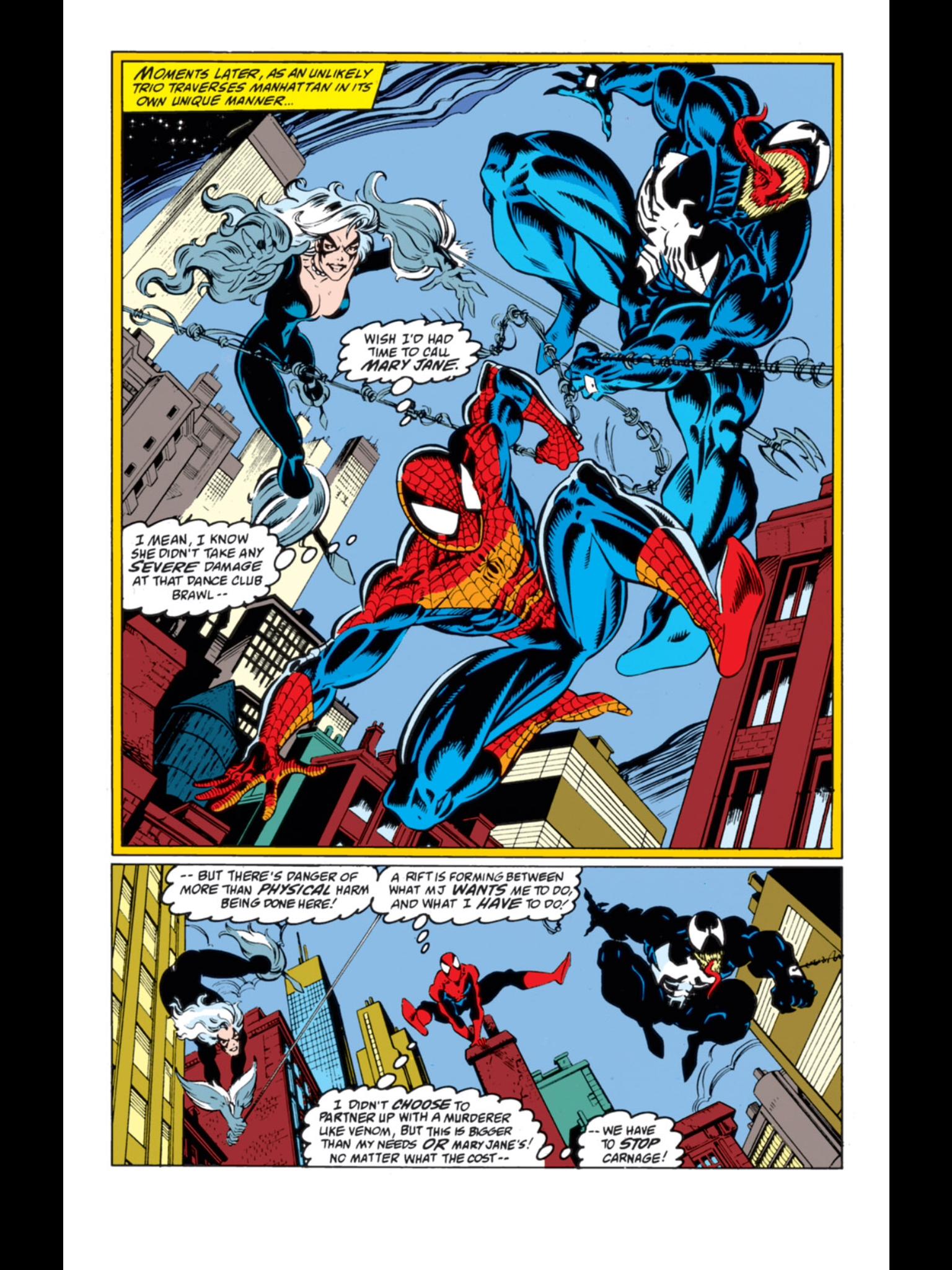 Maximum Carnage Simbiontes, Hombre araña y Arañas