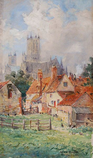 "Colin Campbell Cooper, 1902 ""Adam and Eve Inn, Lincoln, England"""