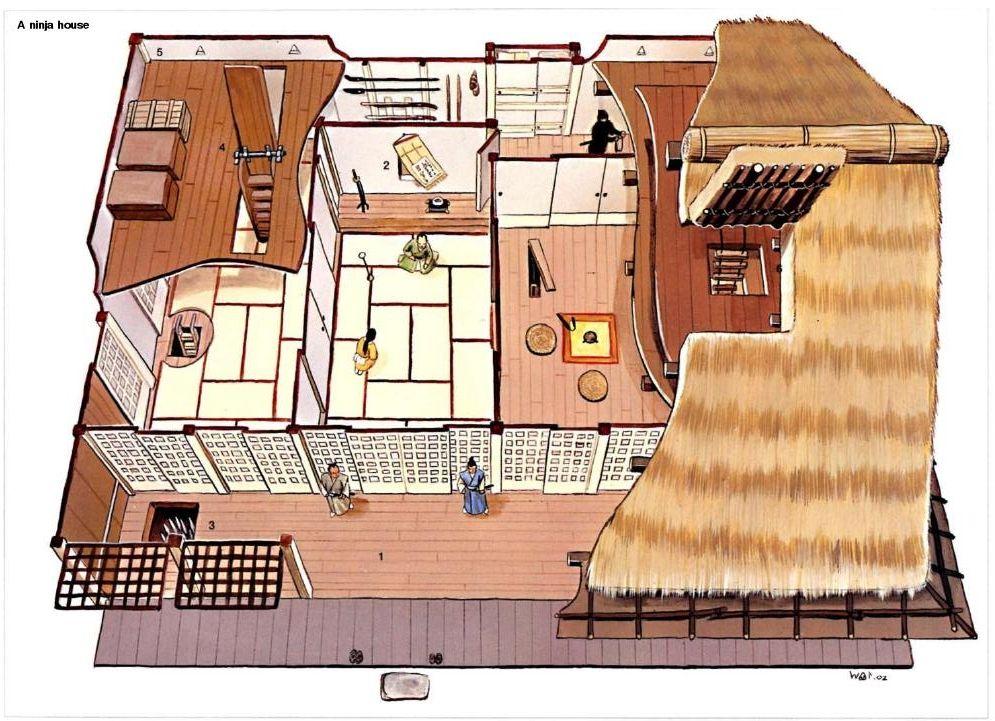 Inside The Ninja House Traditional Japanese House Japanese House Japanese Style House