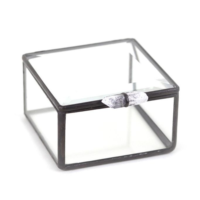 Small glass jewelry box made by Meg Meyers wwwmooreasealcom