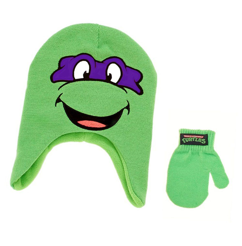 Teenage Mutant Ninja Turtles Winter Laplander /& Matching Gloves or Mittens
