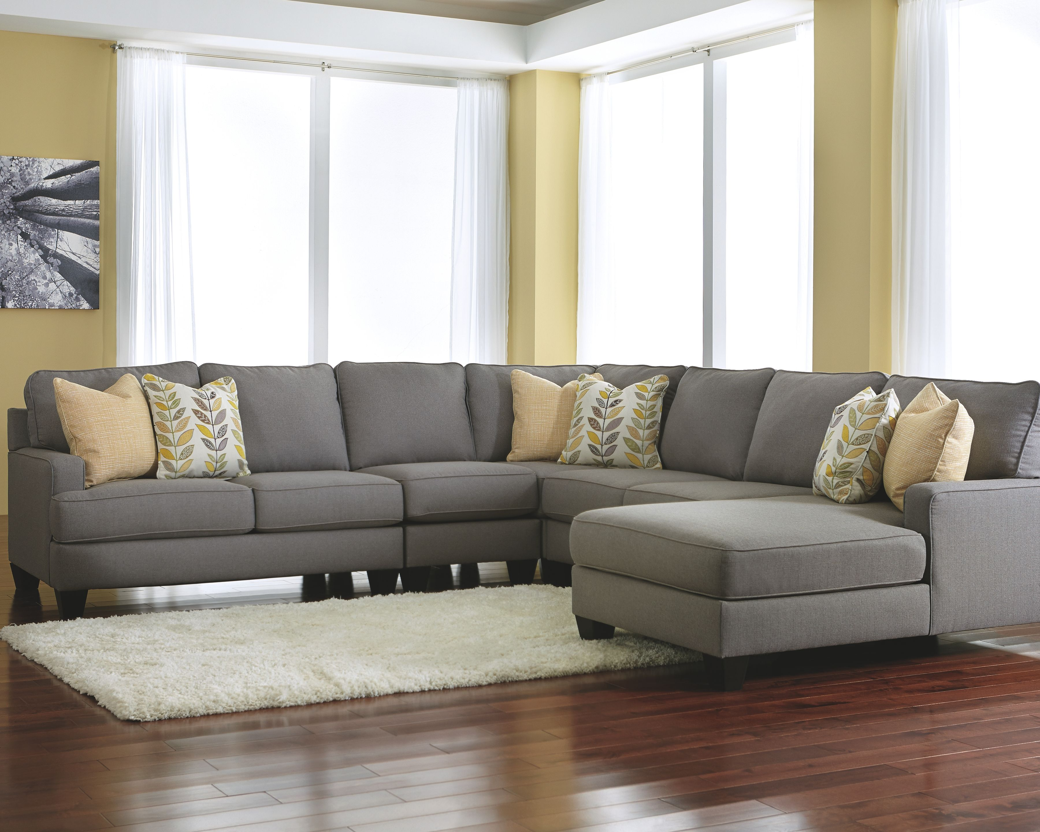 Best Chamberly 5 Piece Sectional With Chaise Alloy In 2020 640 x 480