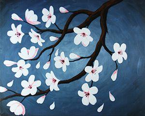 Artworking Social de la lona Pintura Diseño - flores de cerezo