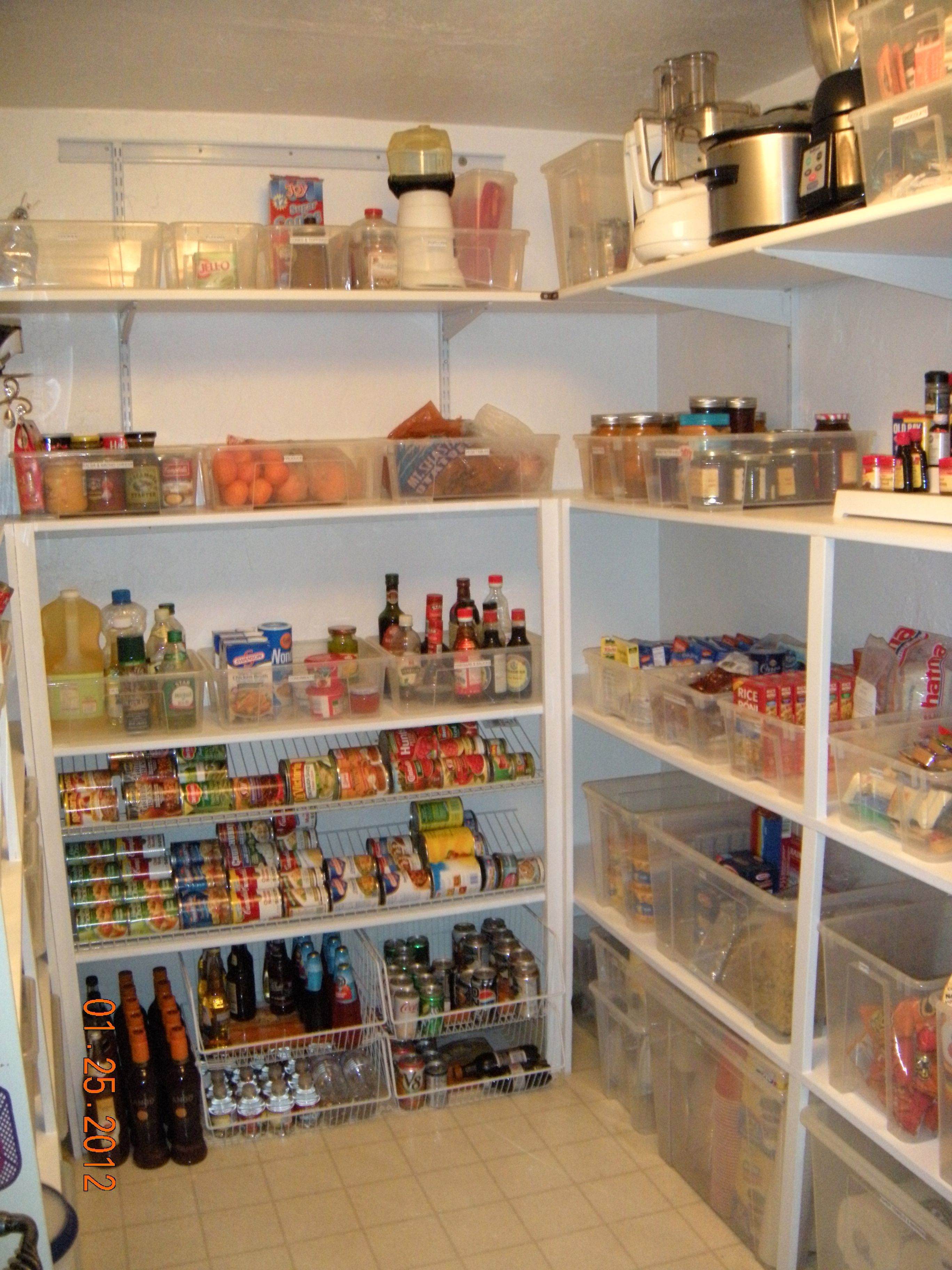 Cowan Pantry After: Notice The Can Dispenser. Clientu0027s Wonderful Husband  Installed Closetmaid Wire Shelving Upside Down To Create A Rack With A Lip  To Hold ...
