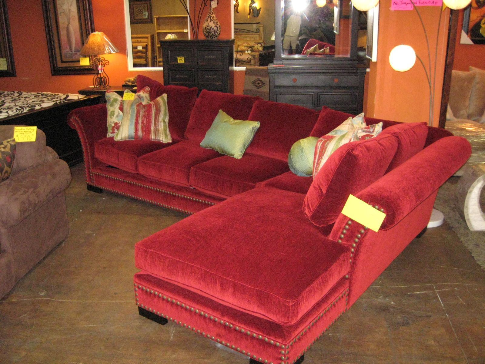 Michael Roberts tara red couch Furniture Pinterest