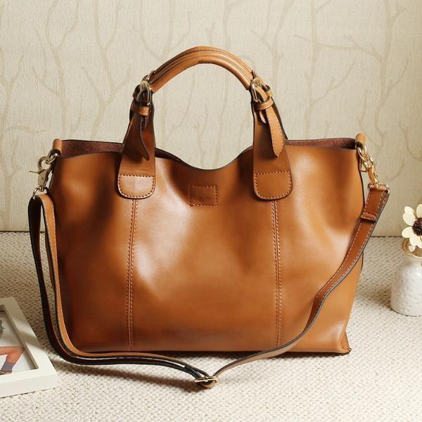 e370eef042 100% genuine leather bags women leather handbags messenger bag totes  shoulder Bags for ladies brand high quality Vintage Handbag  78.50