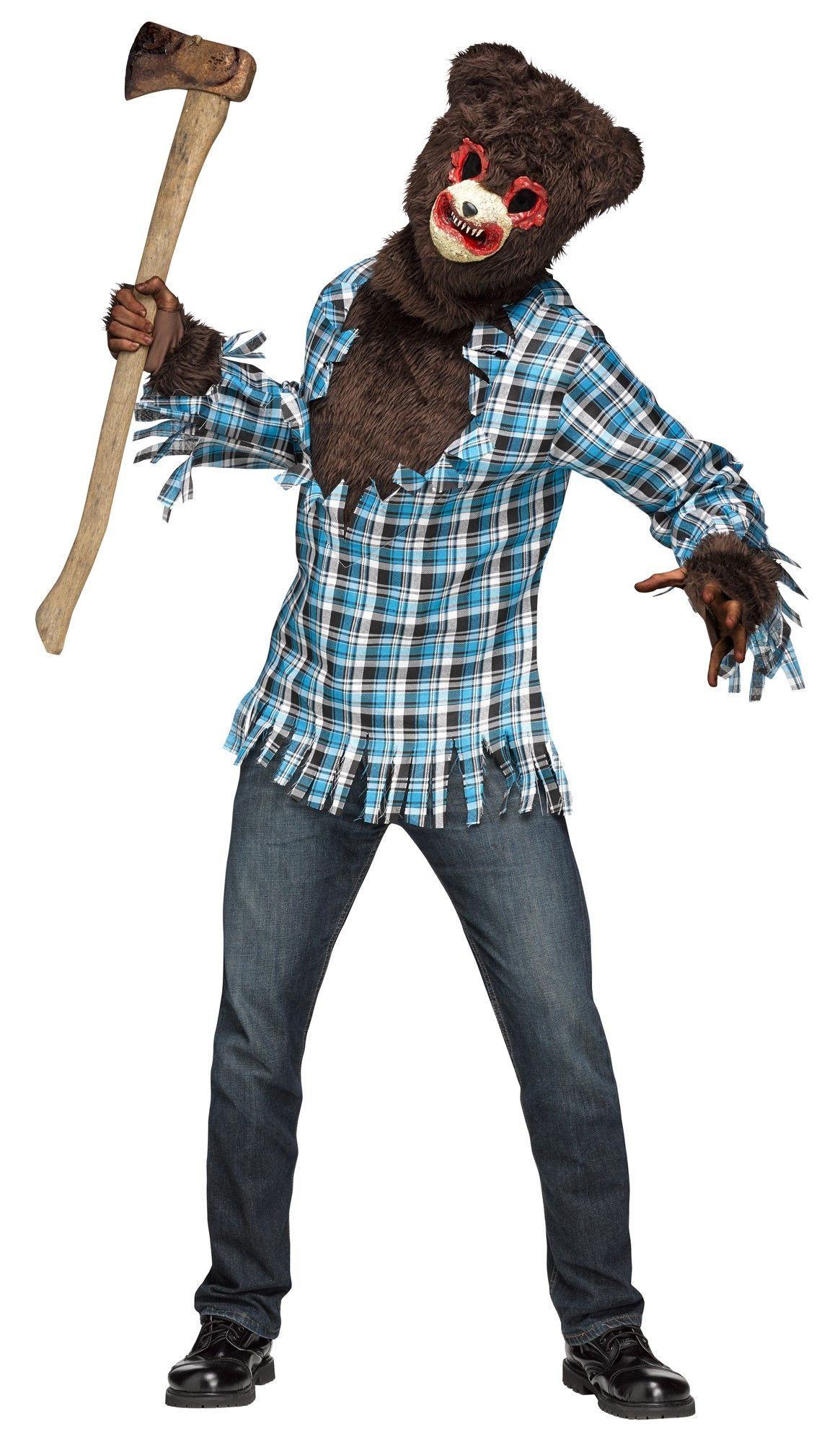 2017 05 freddy fazbear costume amazon - Psycho Teddy Bear Men S Costume