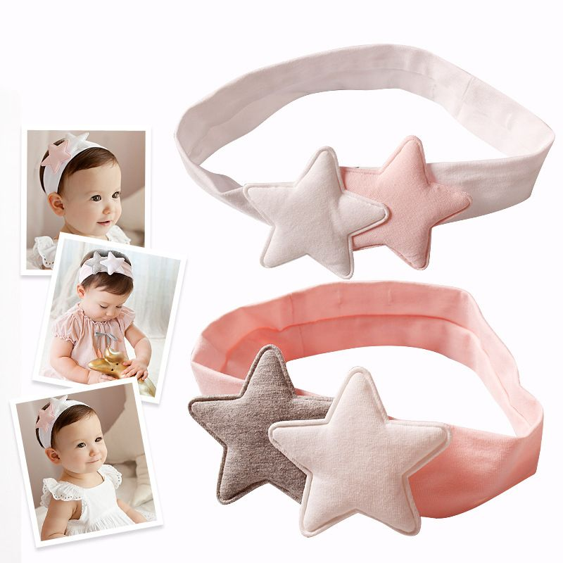 >> Click to Buy << Newly Design Girls Two Star Headbands Newborn Infant Hair Accessories Kids Headwear Baby Headdress Children Elastic Hair Bands #Affiliate