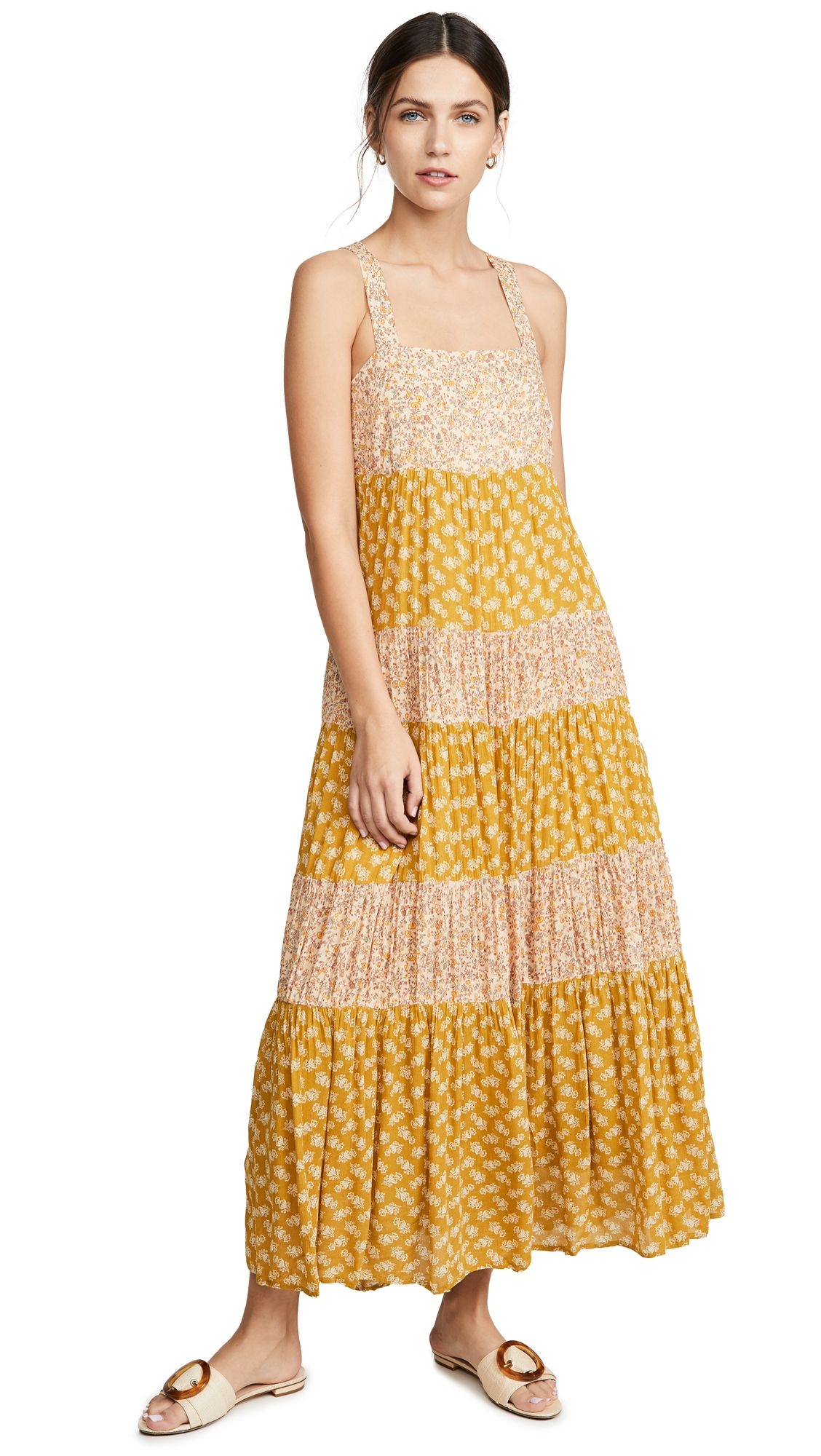 0e86604bc8 MADEWELL TIERED TIE BACK MIDI DRESS. #madewell #cloth | Madewell in ...