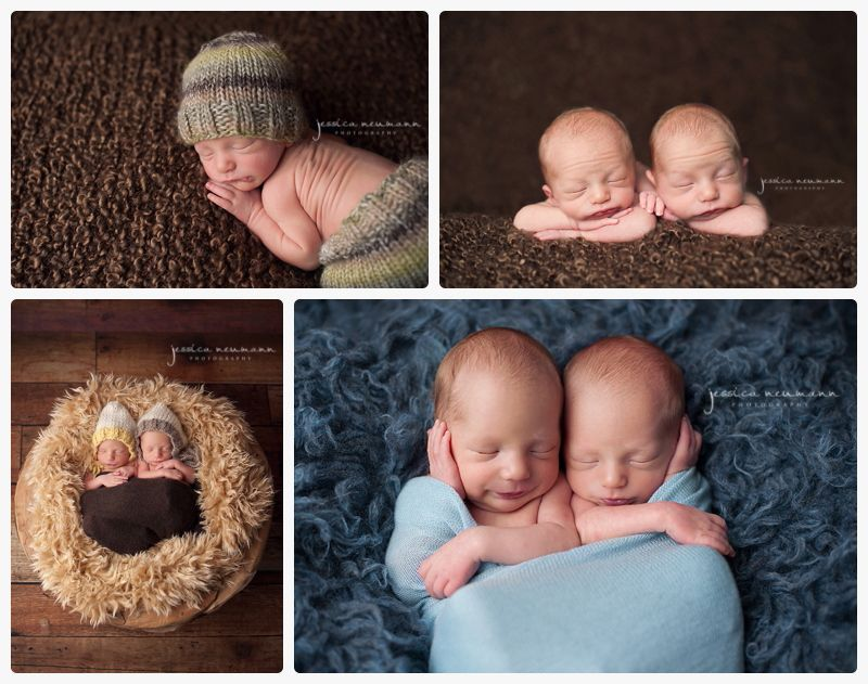 Twin newborn photography jessica neumann photography frederick md