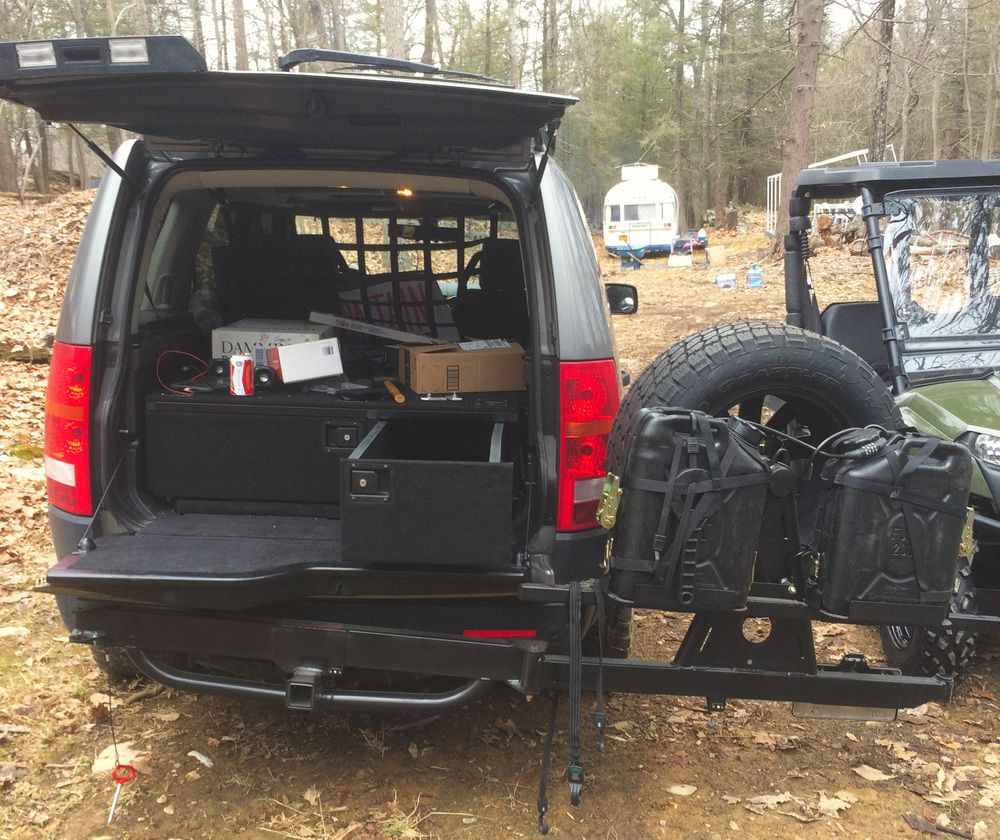Jerry Can Mount LR3 Spare Tire - Google Search