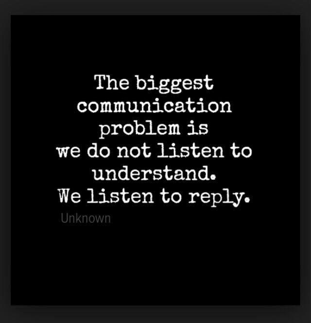 The biggest communication problem