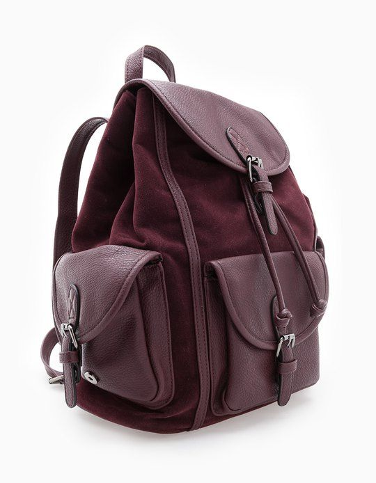 chez stradivarius tu trouveras 1 sac dos mati res combin es pour femme pour seulement. Black Bedroom Furniture Sets. Home Design Ideas