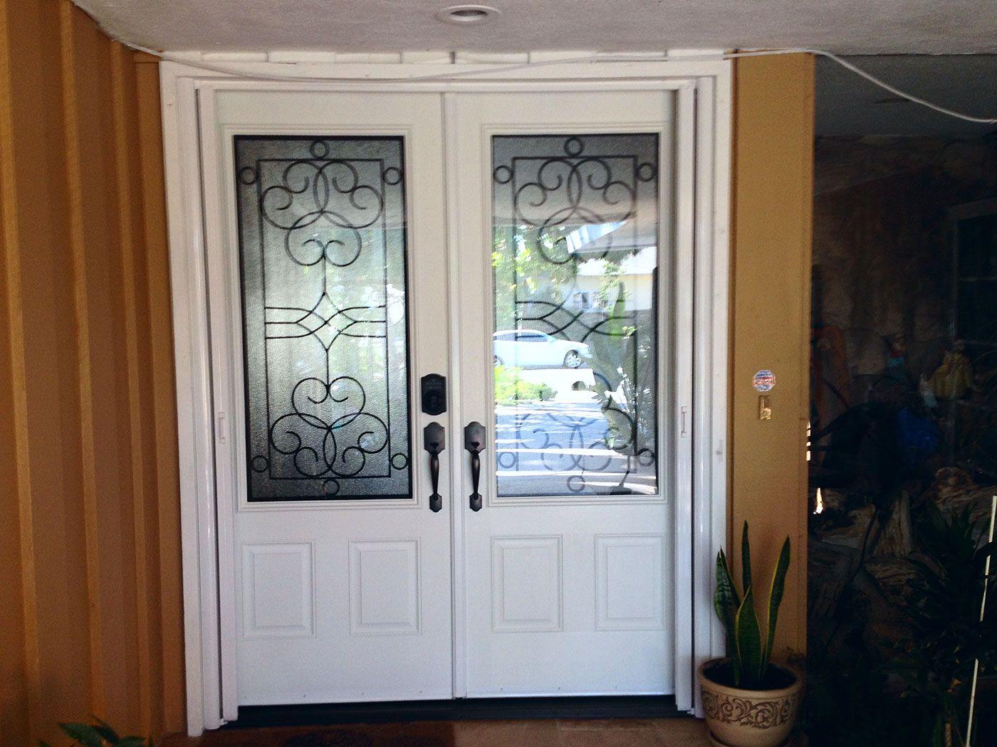 8 Foot Tall Double Doors With Screen Doors.