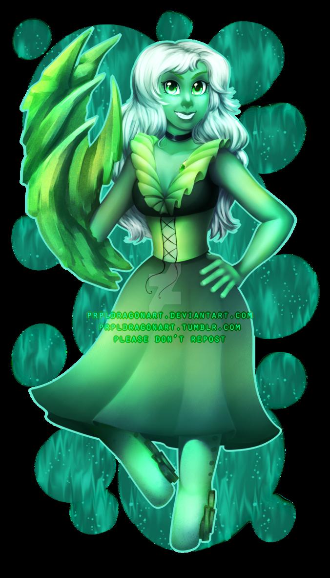 Steven Universe: Emerald (giveaway prize) by prpldragonart ...