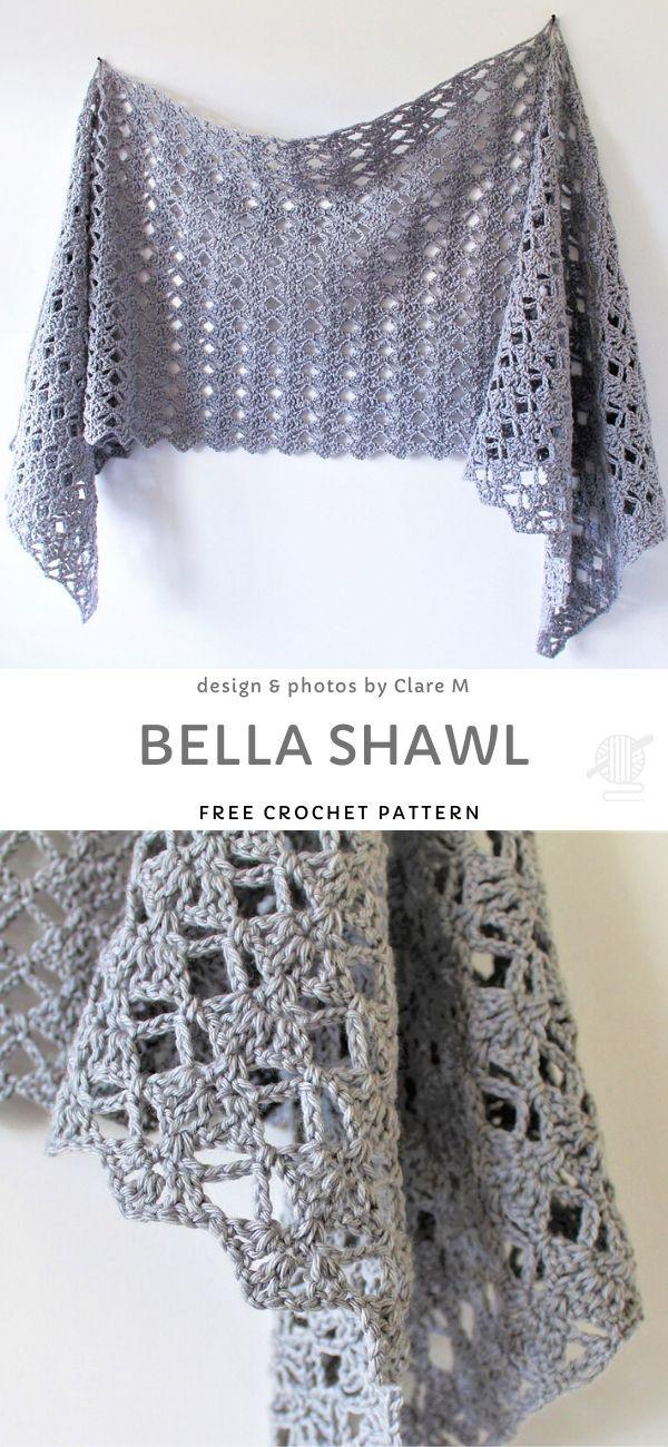 Photo of Bella Shawl Free Crochet Pattern