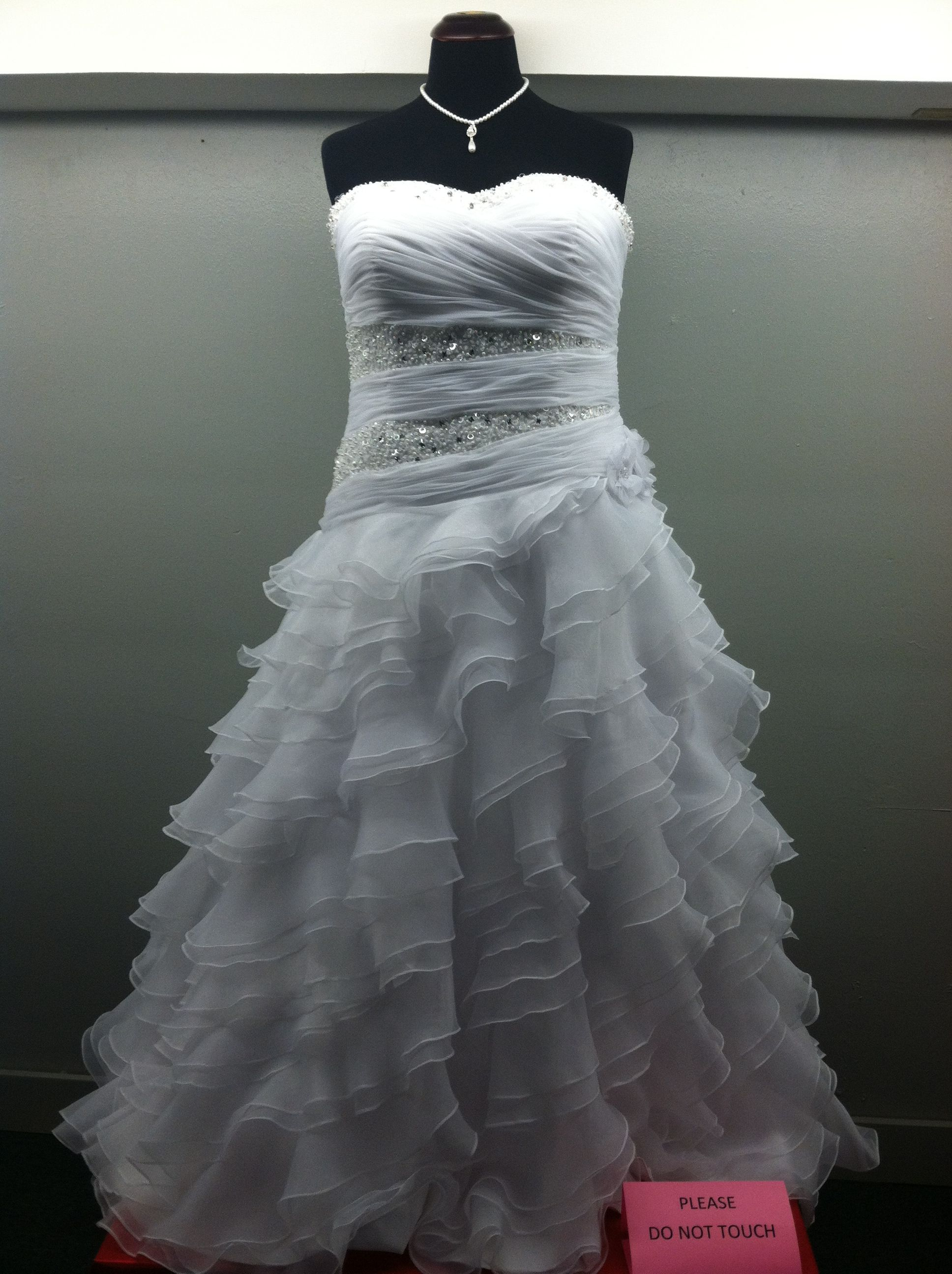 1e1b25e7f7 Mary's Wedding dress plus size drop waist with lots of bling! At ...